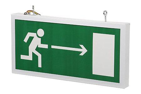 Светодиодный аварийный указатель LC-SIP-E13-3015-BAP Направление к выходу направо 330х180 мм