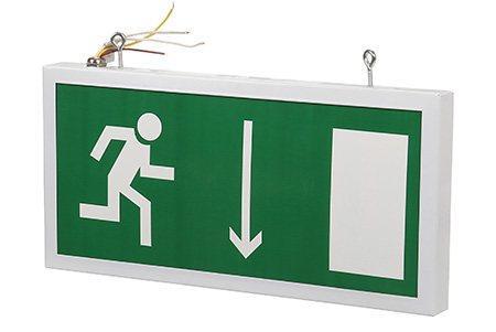 Светодиодный аварийный указатель LC-SIP-E19-3015-BAP дверь (правая) 330х180 мм