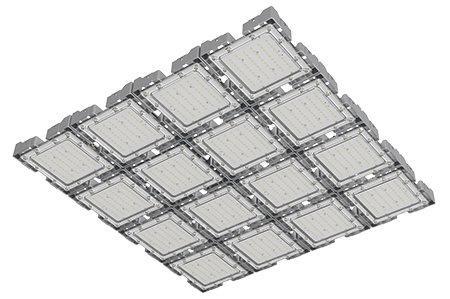 Туннельный модульный светильник  LC-TMS-100100-480W-W 100*100 См Холодный белый