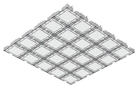 Туннельный модульный светильник  LC-TMS-125125-900W-W 125*150 См Теплый белый