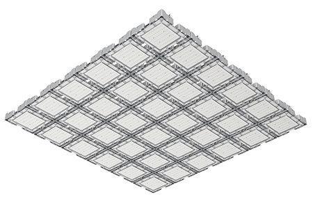 Туннельный модульный светильник  LC-TMS-150150-1080W-W 150*150 См Холодный белый