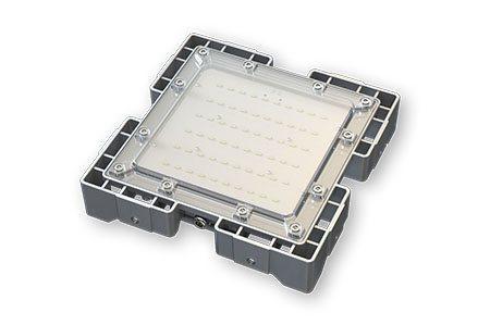 Туннельный модульный светильник  LC-TMS-2525-30W-W 25*25 См Теплый белый