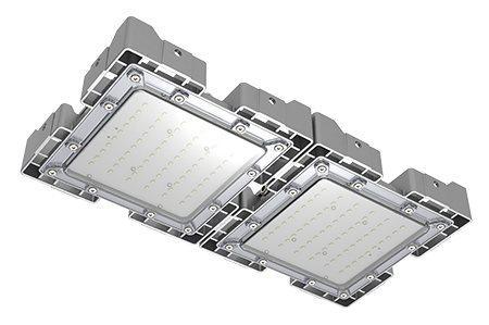Туннельный модульный светильник  LC-TMS-2550-60W-W 25*50 См Теплый белый