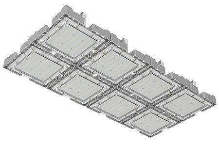 Туннельный модульный светильник  LC-TMS-50100-240W-W 50*100 См Теплый белый